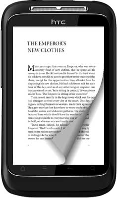 how to create page turn effect in android